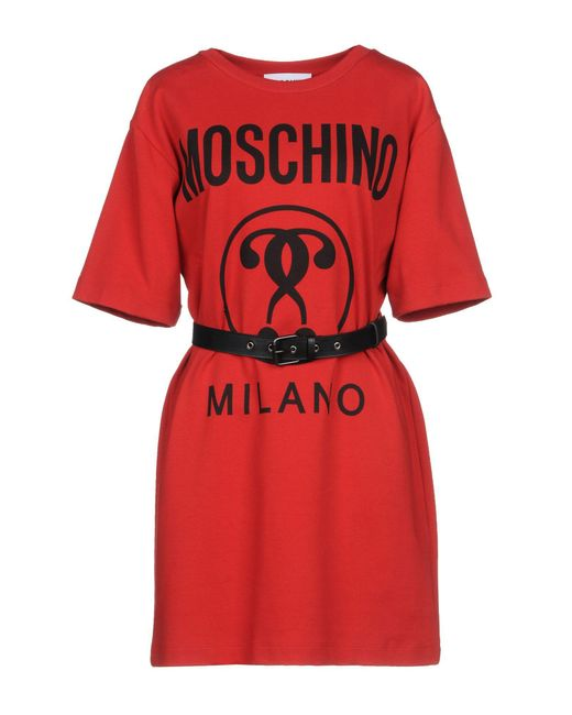 Moschino - Red Short Dress - Lyst