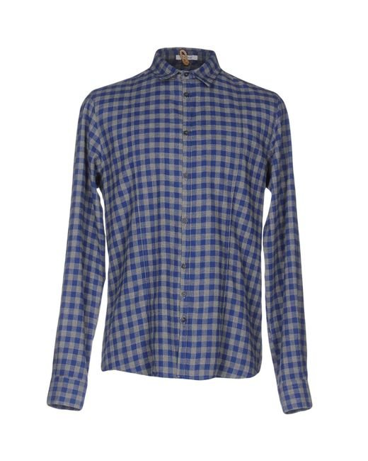 Berna | Blue Shirt for Men | Lyst