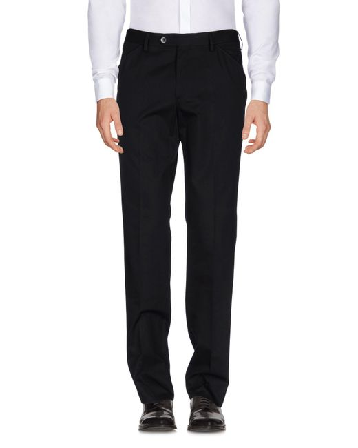 Luigi Bianchi Mantova - Black Casual Pants for Men - Lyst