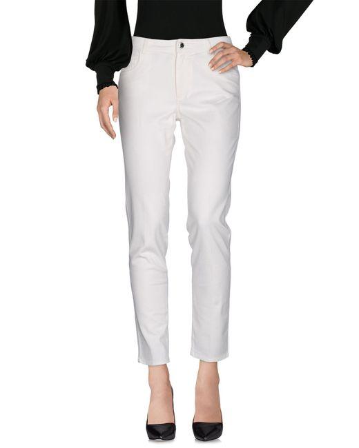 Blue Les Copains | White Casual Trouser | Lyst
