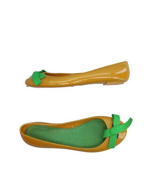 Lola Cruz - Yellow Ballet Flats - Lyst