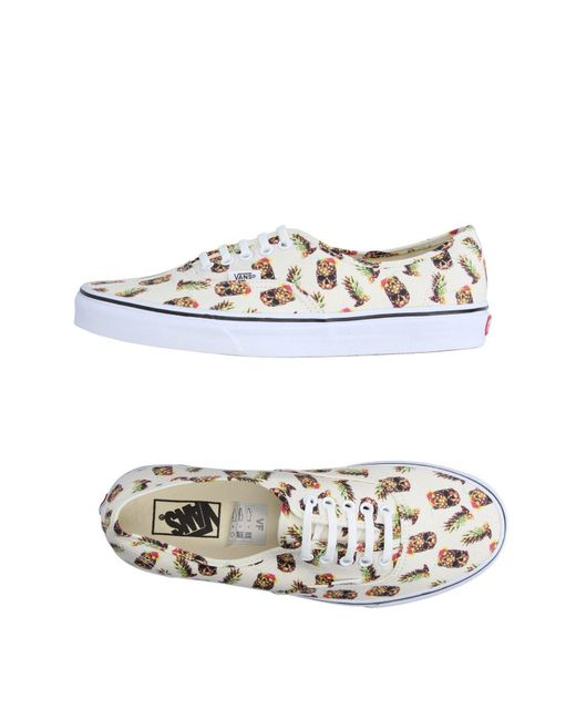 Vans - White Low-tops & Sneakers for Men - Lyst