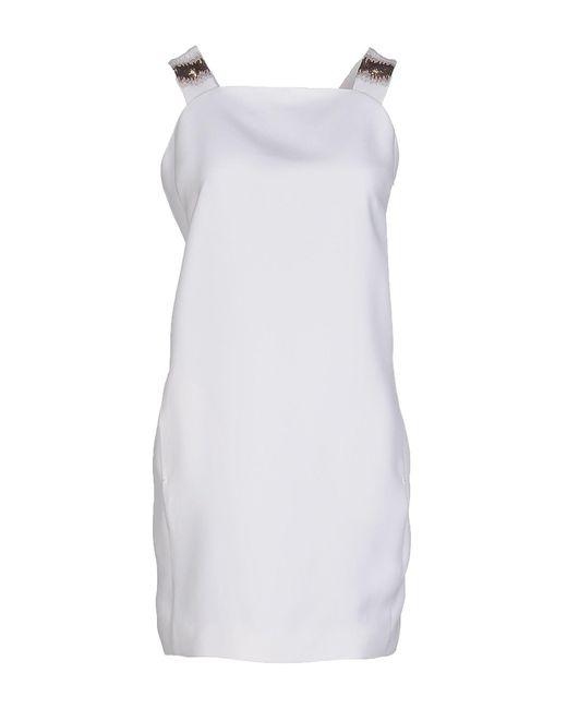 Genny - White Short Dress - Lyst