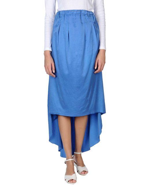 Jijil - Blue 3/4 Length Skirts - Lyst