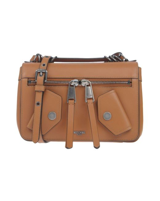 Moschino - Brown Cross-body Bag - Lyst