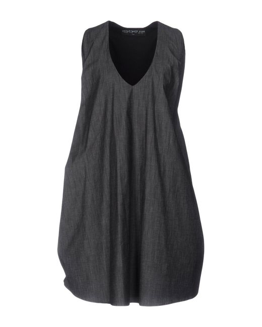 Department 5 - Gray Short Dress - Lyst