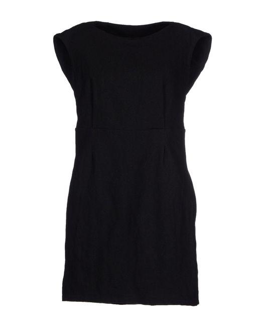 Manila Grace - Black Short Dress - Lyst
