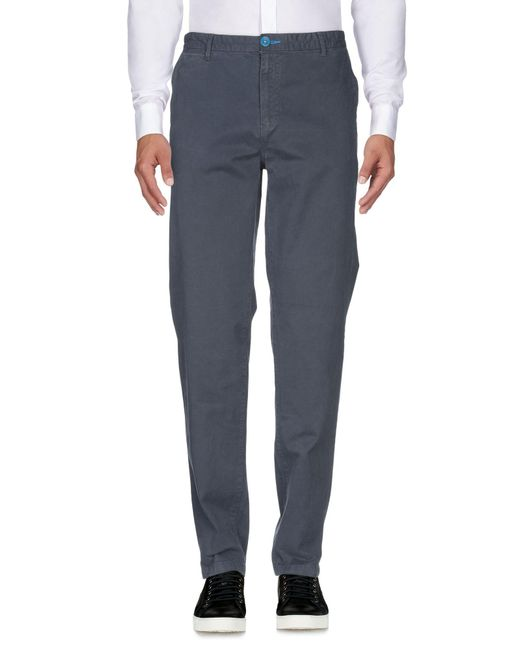 Fred Mello Blue Casual Trouser for men