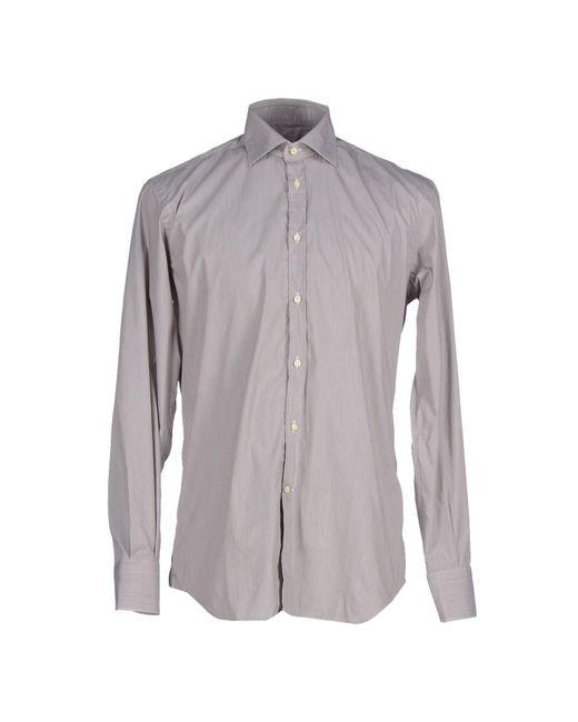 Del Siena - Gray Shirt for Men - Lyst