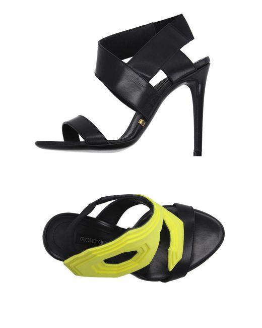 Gianmarco Lorenzi - Black Sandals - Lyst
