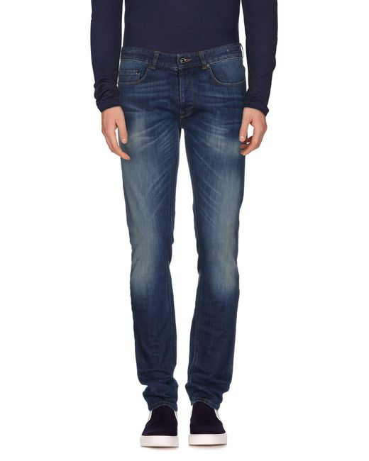 Mauro Grifoni - Blue Denim Trousers for Men - Lyst
