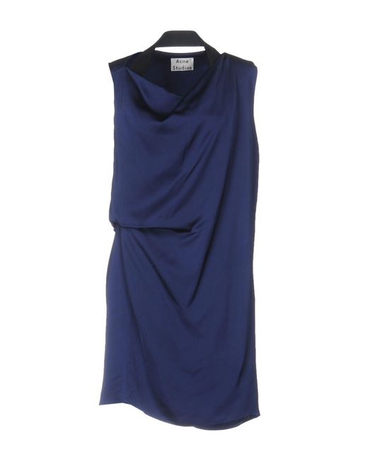 Acne - Blue Short Dress - Lyst