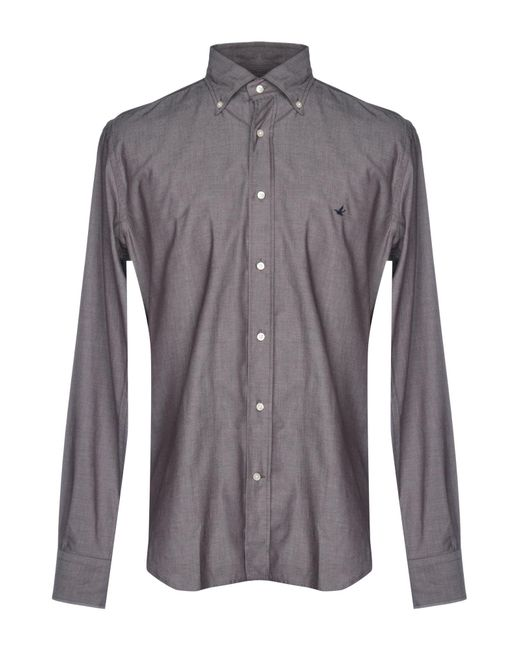 Brooksfield - Gray Shirt for Men - Lyst
