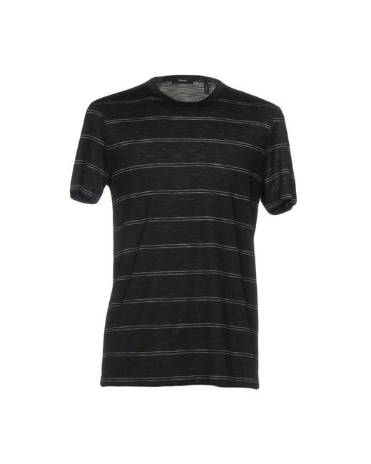 Theory | Black T-shirt for Men | Lyst