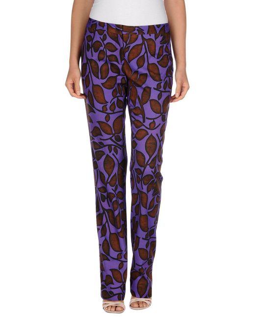 Just Cavalli - Purple Casual Pants - Lyst