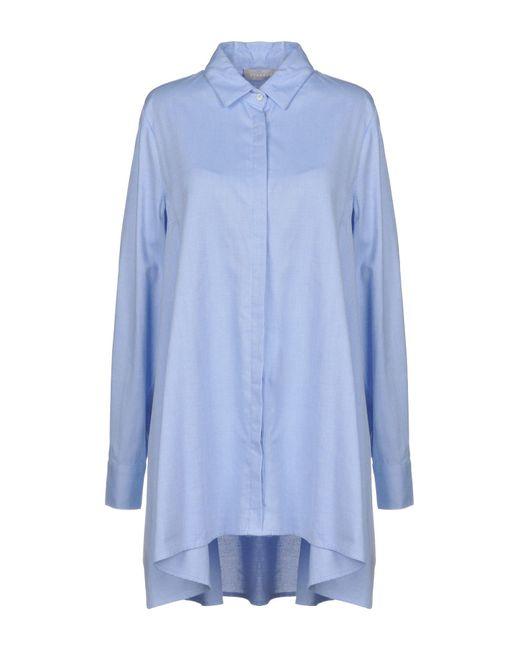 Stefanel - Blue Shirt - Lyst