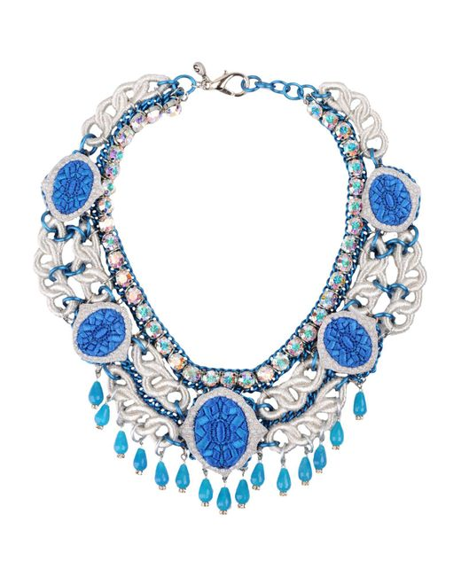 Sveva Collection - Blue Necklace - Lyst