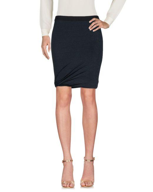 T By Alexander Wang - Green Knee Length Skirt - Lyst