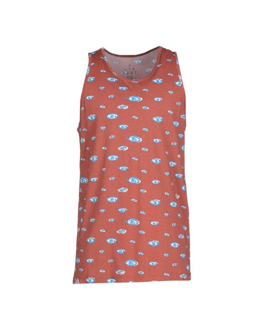 Altamont - Red Tank Top for Men - Lyst