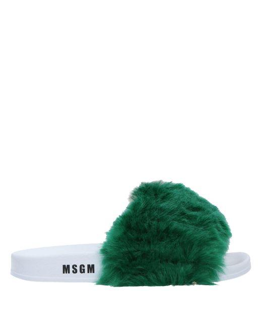 MSGM - Green Sandals - Lyst