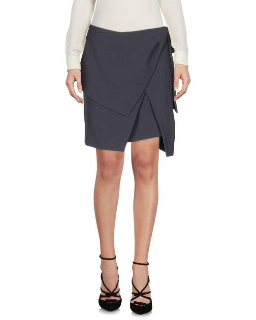 Balenciaga - Gray Knee Length Skirt - Lyst
