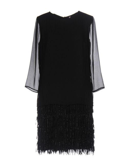 Scee By Twin-set - Black Short Dress - Lyst