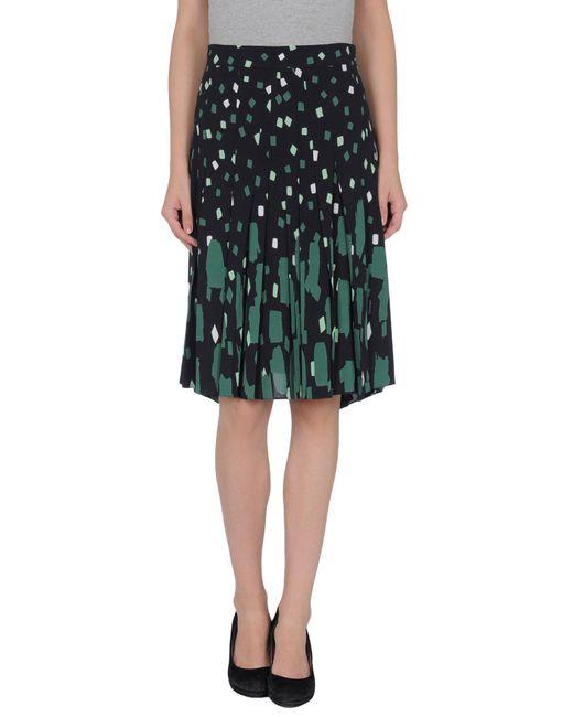 Vionnet - Green Knee Length Skirt - Lyst