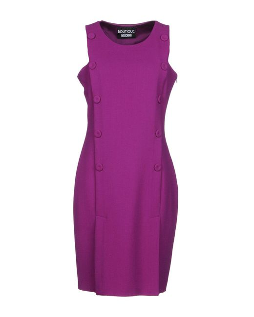 Boutique Moschino - Purple Knee-length Dress - Lyst