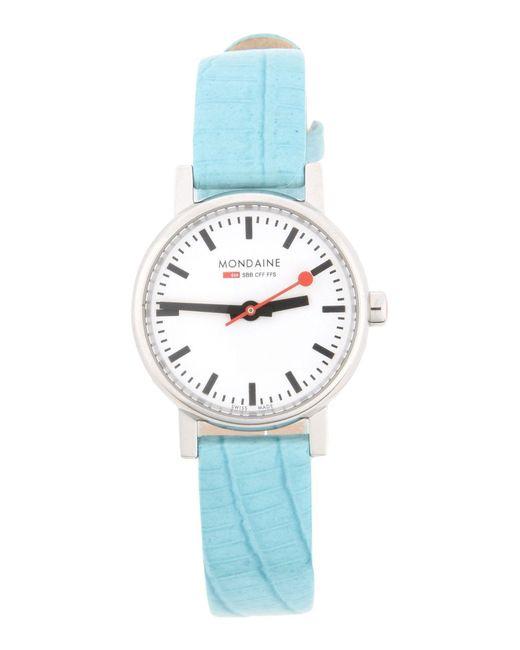 Mondaine - Blue Wrist Watch - Lyst
