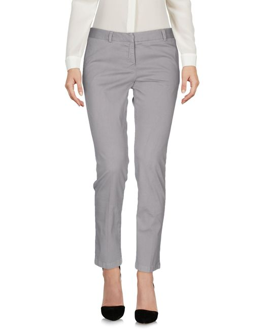 Scaglione - Gray Casual Pants - Lyst