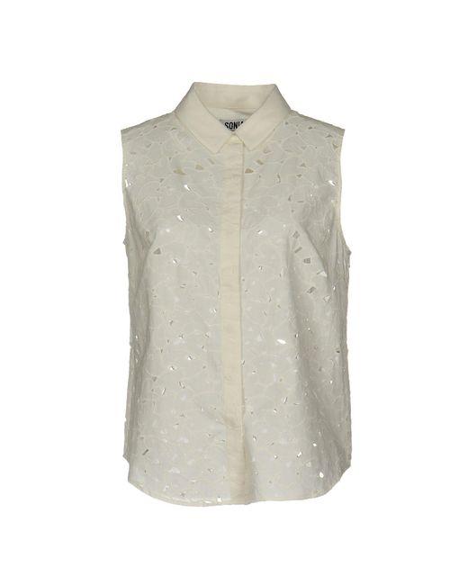 Sonia by Sonia Rykiel - White Shirt - Lyst