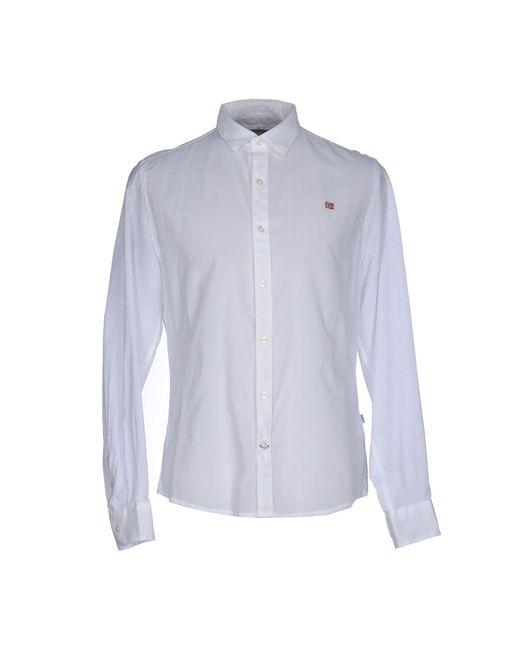 Napapijri - White Shirt for Men - Lyst