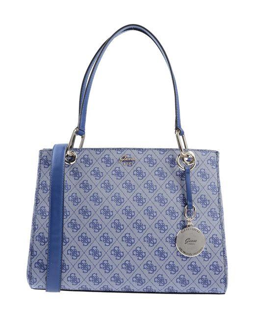 6a135c1ffb72 Guess - Blue Handbag - Lyst ...