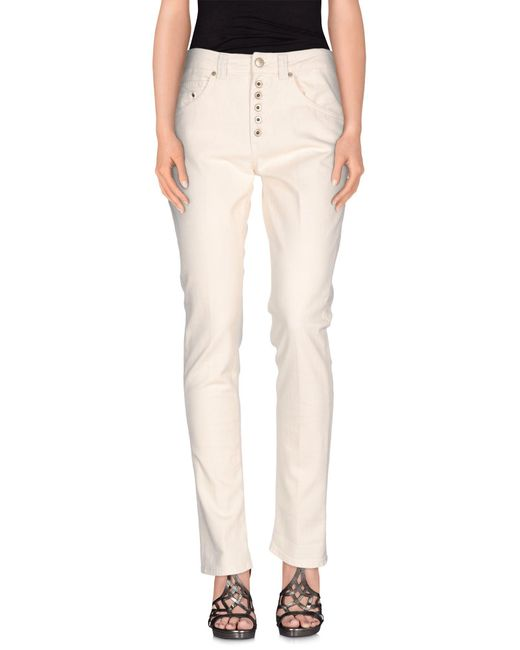 Dondup - White Denim Pants - Lyst