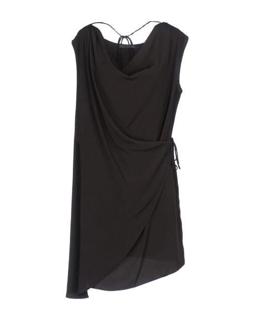 Crea Concept - Brown Short Dress - Lyst