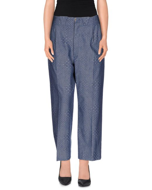 People - Gray Casual Pants - Lyst