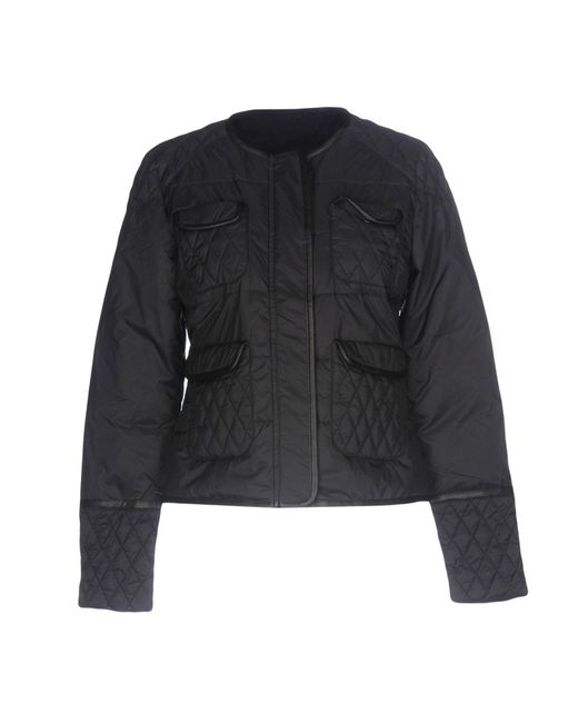 Twin Set - Black Synthetic Down Jacket - Lyst
