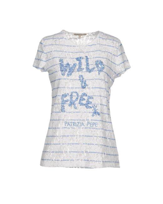 Patrizia Pepe - Blue T-shirt - Lyst