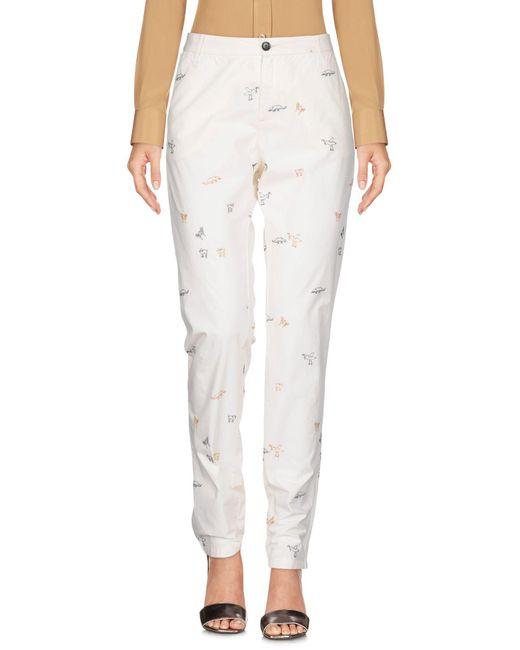 Bellerose - White Casual Pants - Lyst
