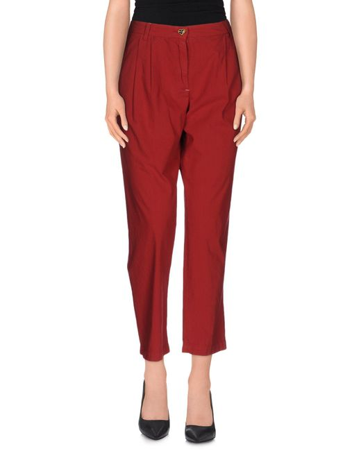 Twin Set - Red Casual Pants - Lyst