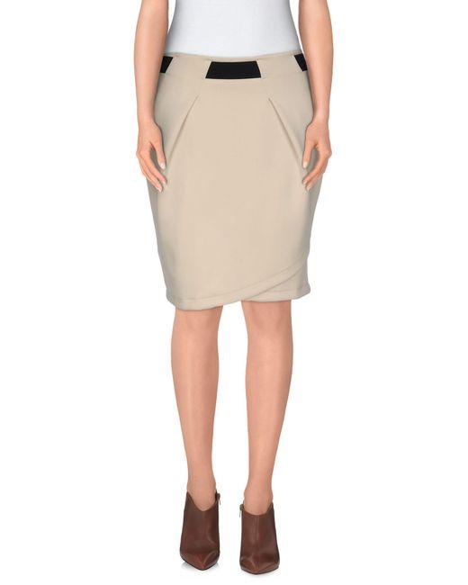 Vero Moda - Natural Knee Length Skirt - Lyst