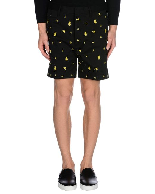 DSquared² - Black Bermuda Shorts for Men - Lyst