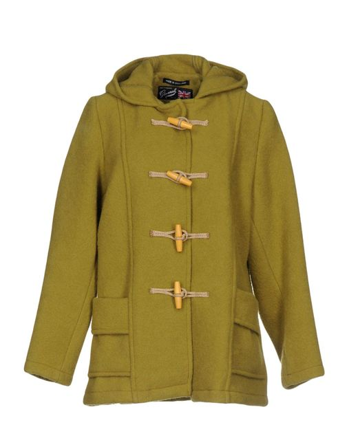 Gloverall - Green Coat - Lyst