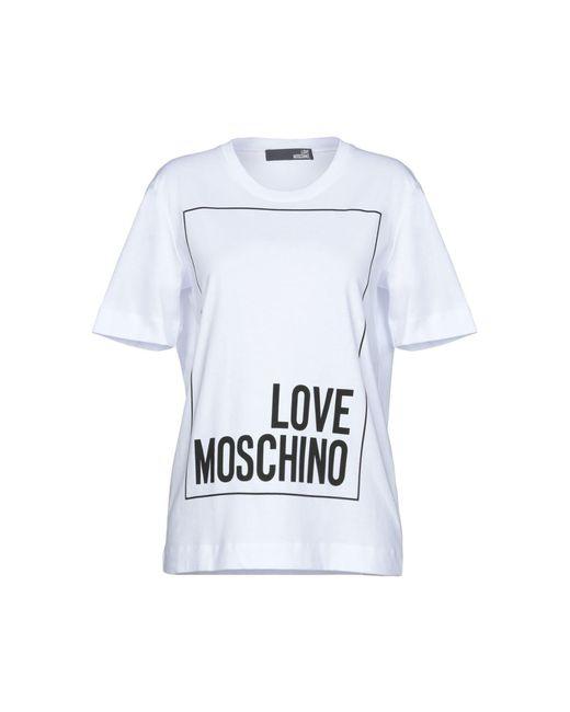 Love Moschino - White Logo Short-sleeve T-shirt - Lyst