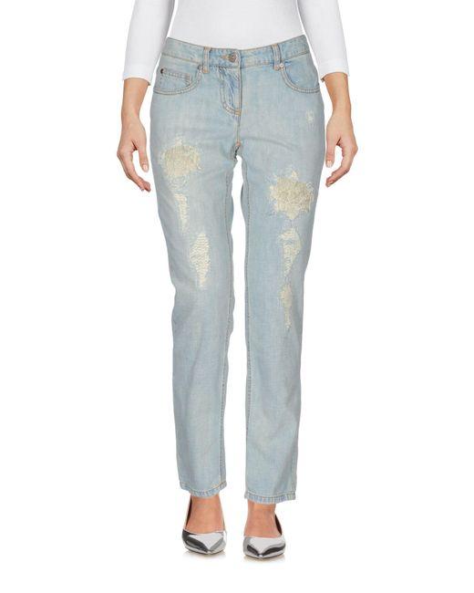Ermanno Scervino - Blue Denim Trousers - Lyst