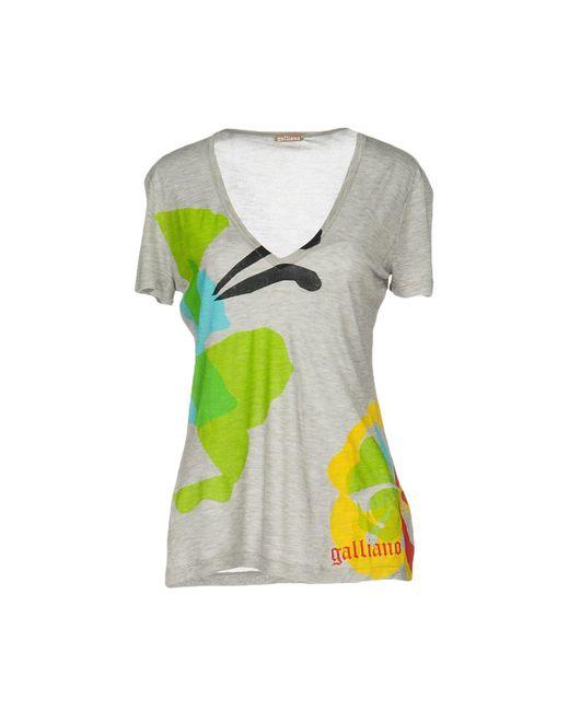 John Galliano | Gray T-shirt | Lyst