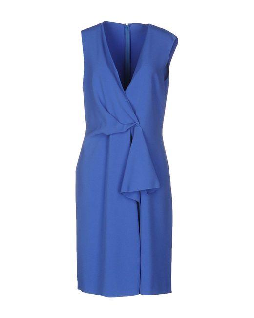 Alberta Ferretti - Blue Knee-length Dresses - Lyst