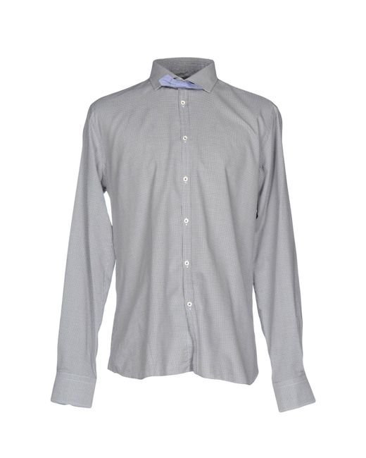 Aglini | Gray Shirt for Men | Lyst