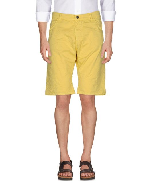 Imperial | Yellow Bermuda Shorts for Men | Lyst