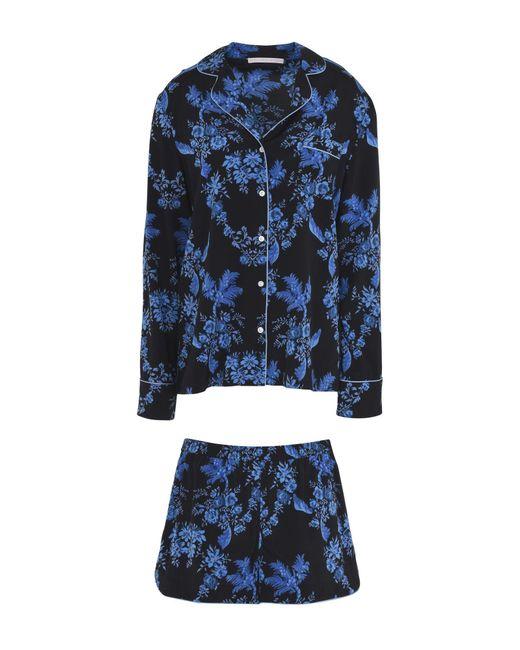 Stella McCartney - Blue Poppy Snoozing Printed Stretch-silk Crepe De Chine Pajama Set - Lyst